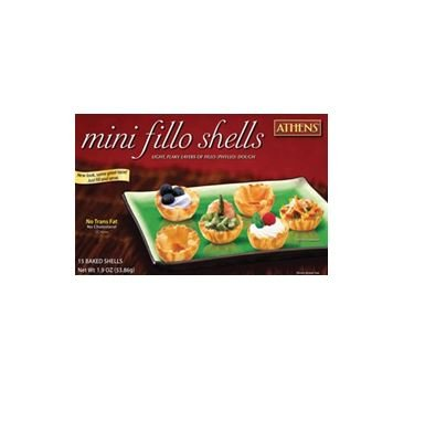 - Athens Foods Mini Fillo Dough Shells 15 Per Box (3 Boxes)