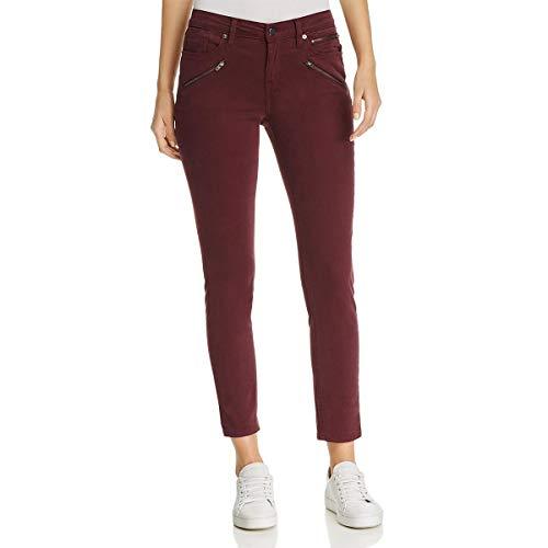 (Kenneth Cole Women's Moto Skinny Jean with Zip Pockets, Port, 28)
