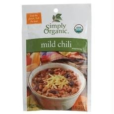 Simply Organic B53482 Simply Organic Mild Chili, Seasoning Mix, Certified Organic -12x1oz