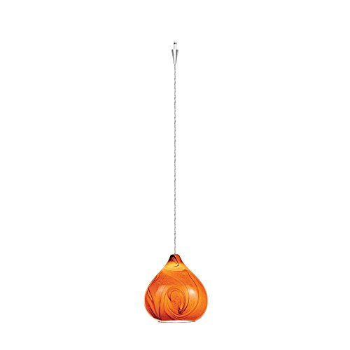 WAC Lighting QP933-AM/CH Truffle Quick Connect Pendant with Amber Shade and Chrome Socket Set (Connect Pendant Socket Quick)