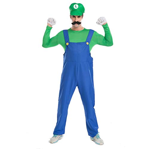 Brothers Mario Costume Halloween Costume Disguise Women's