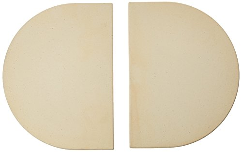 Ceramic Heat Reflector Plate - Primo 324 Ceramic Heat Reflector Plates for Primo Oval XL Grill, 2 per Box