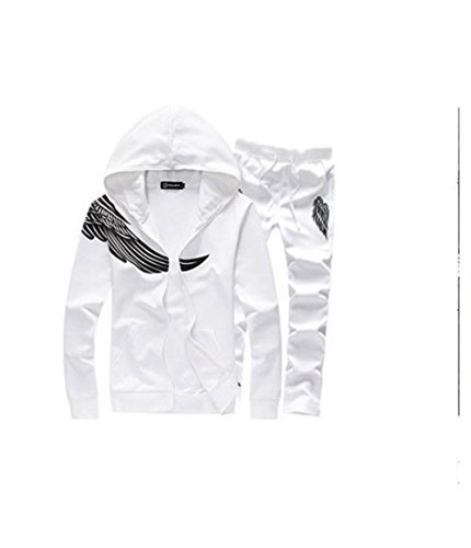 Fashion leisure shirt Men's Clothing Shitsuke long sleeve sport suit main color:white lot:A set (Leisure Suits For Sale)