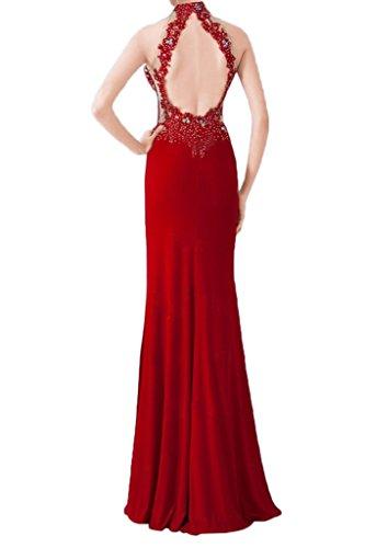 Sera Glamour Abito Vestito Fessura Da Partito Guaina Bella Avril Rossa Abito Capestro Schiena axXRqA