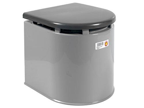 Giganplast wc chimico camper 41x36x38 cm portata 120 kg grigio
