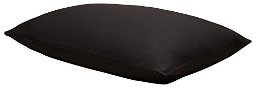 Calvin Klein Home Modern Cotton Harrison, Standard Pillowcase Pair, Black, 2 Piece - Klein Bed Pillow