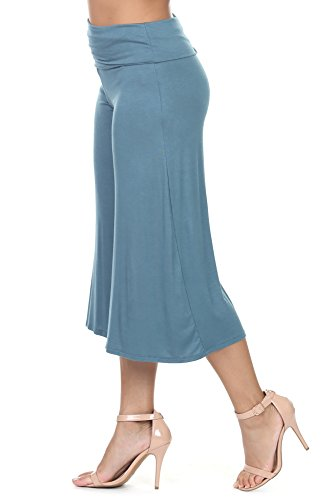 iliad USA 7012 Womens Capri Culottes Pants Teal ()