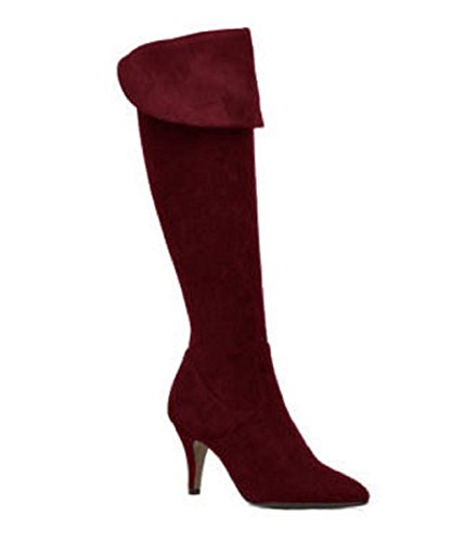 Boots Model Jane in Black in Suede by HGilliane Design EU 33 to 44 Customized only Bordeaux PvqsJXc