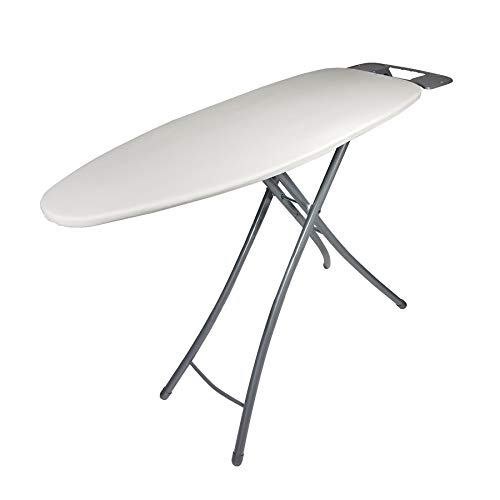 Homz Wide Top Ironing Board, Light Tan Cover, Khaki