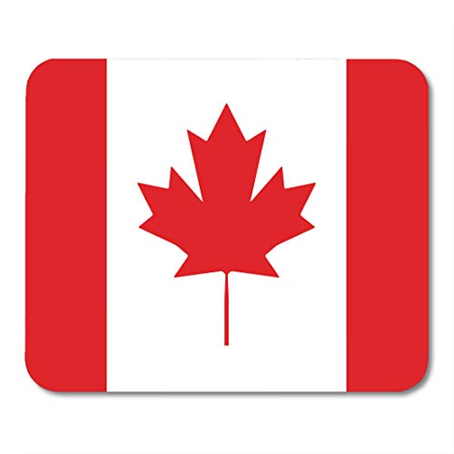 Desk Country Maple (Emvency Mouse Pads Canada Canadian Flag Red White Maple Leaf 1St Accuracy Accurate Color Mouse pad 9.5