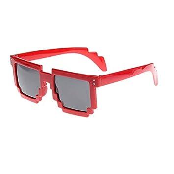 df707c05d44 Sunglasses - SODIAL(R)Retro Novelty Unisex Cool Pixel Glasses Pixelated  Style Square Sunglasses