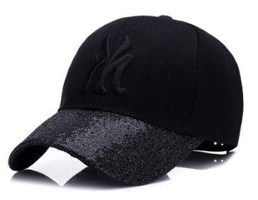 New York City Hat - Adjustable Black and Black New York City NYC Cap ... 47a474daec7