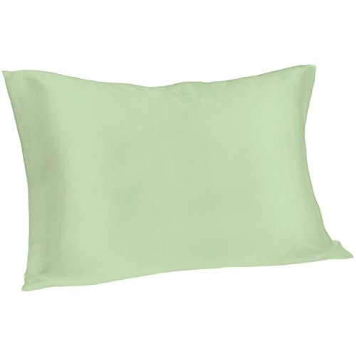 Spasilk 100% Pure Silk Pillowcase for Facial Beauty and Hair Health, Standard/Queen, Sage