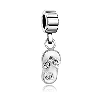 Amazon Com Lovelyjewelry Sterling Silver Beach Sandal Charms Dangle