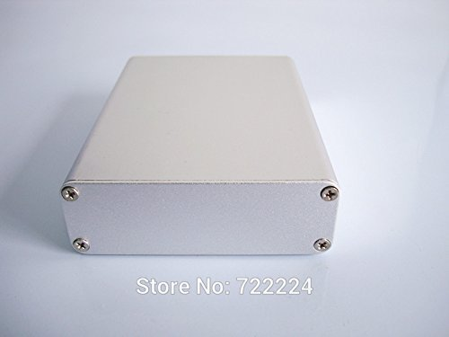 Generic 1 piece 8428110mm aluminum instrument shell industrial electrical project junctionenclosure PCB shell power amplifer bo by Generic