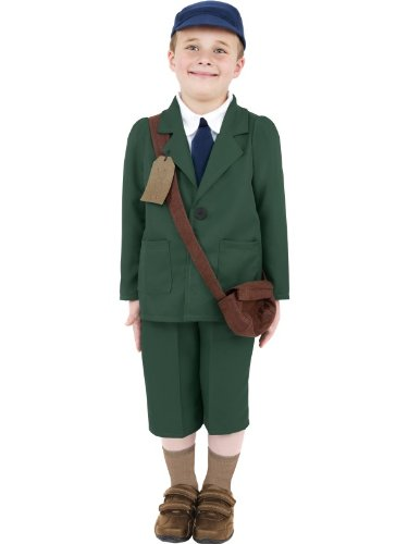 [World War II Evacuee Boy Costume Boy Fancy Dress] (World War 2 Evacuees Costumes)