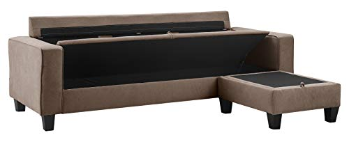Serta UPH10135F Palisades Reversible Storage Sectional, 78
