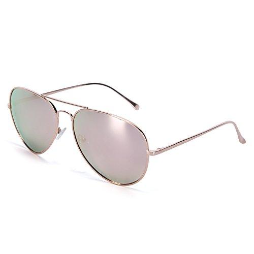YJMILL 2017 New Polarized Sunglasses Retro Pilots Riding Fishing Golf Travel Sunglasses Men 0863 (Rose gold, Rose - Lunette Vue De