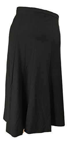 Elie Tahari Women's Baxter A-Line Midi Skirt in Black Size 2