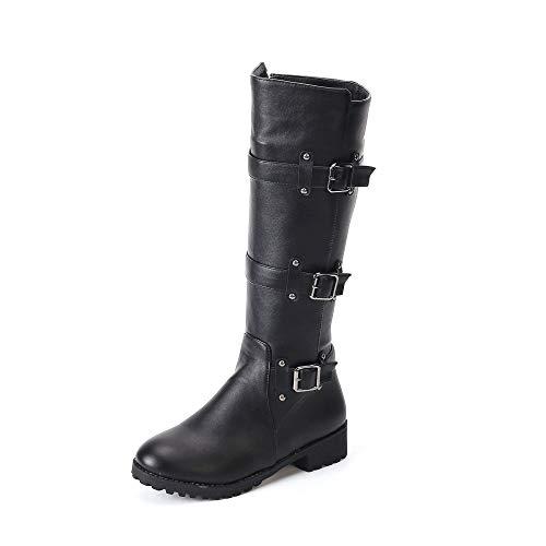 À Boots 2018 British Bottes Taille Noir Talon 50 Ceinture De Hiver Au Boucle 33 Bas Genou Nouvelle Knight Automne Femmes ftwAEqdxwv
