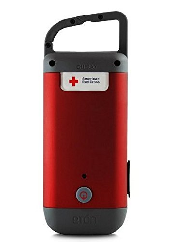 The American Red Cross Clipray the crank powered, clip on flashlight and smartphone charger, ARCCR100R SNG