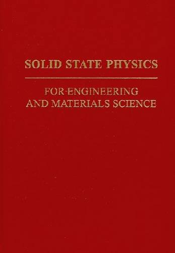 Solid State Physics For Engineering And Materials Science