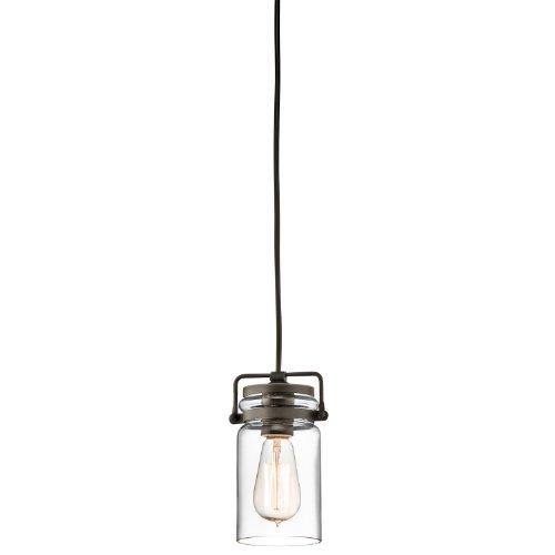 Kichler Ceiling Light Lighting (Kichler 42878OZ Brinley Mini Pendant 1-Light, Olde Bronze)