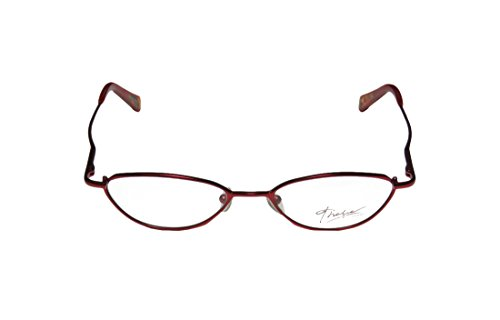 Thalia Katia WomensLadies Rx-able Fancy Designer Full-rim Spring Hinges EyeglassesSpectacles (48-17-130 Red)