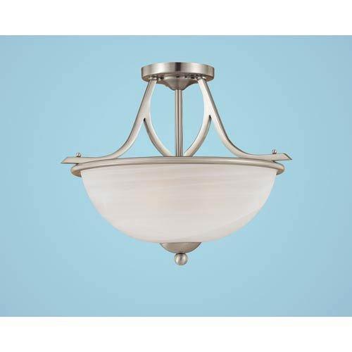 Millennium 1443-SN Three Light Semi-Flush Bowl Mount with Nickel Finish