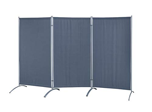 "Proman Products Galaxy Indoor Room Divider (3-Panel), 102"" W x 23"" D x 71"" H, Gray"