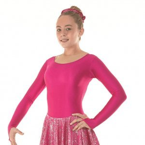 Tappers & Pointers Nylon Lycra and Hologram Foil Childrens Skate/ Cheerleading Dress (4-5 Years, (Cerise Foil)