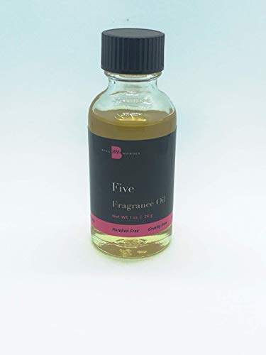 Five Fragrance Oil Perfume Body Oil 1oz Beaumondes Alcohol-Free Made in the USA
