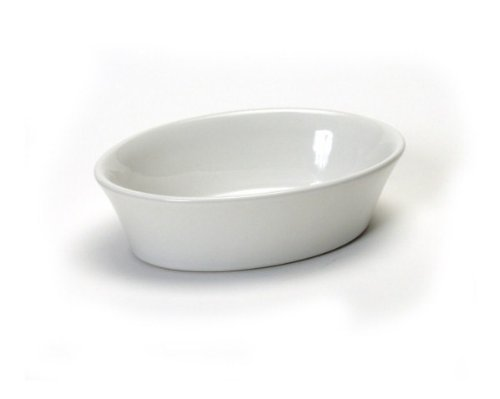 Tuxton 6 Oz Oval Baker White (BWK-060) 12/Box