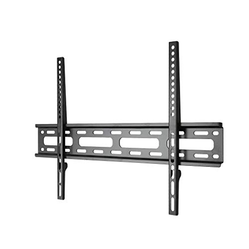 nch TV Rack TV Stand Adjustable Installation Ultra-Thin Fixed Wall Mount 55/65 Inch Hanger (Color : Black, Size : 4364.5cm) ()
