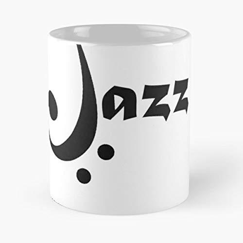 (Jazz Music Bass Clef Baritone - White -coffee Mug- Unique Birthday Gift-the Best Gift For Holidays- 11 Oz.)