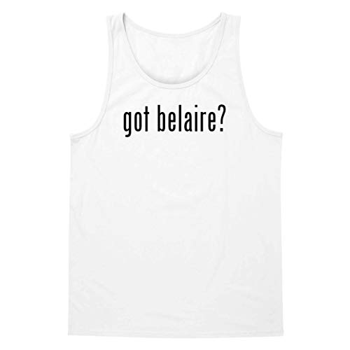 The Town Butler got Belaire? - A Soft & Comfortable Men's Tank Top, White, XX-Large