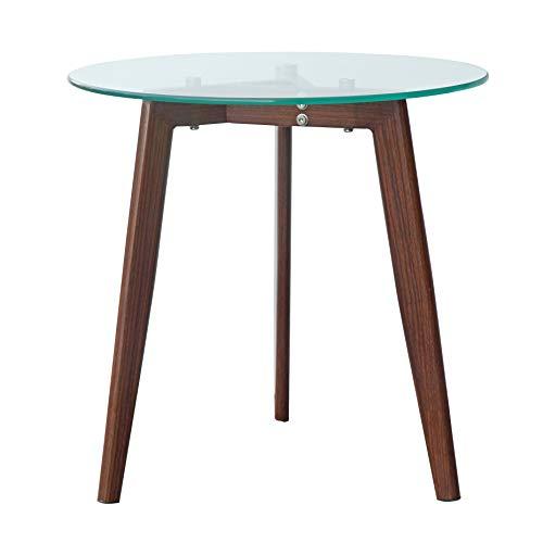 End Glass Wood Tables - POLY & BARK EM-280-WAL Triskele End Table Walnut