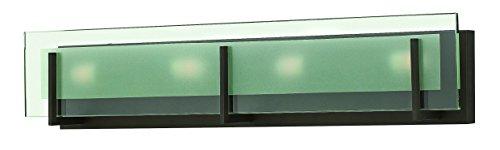 Hinkley 5654OZ Contemporary Modern Four Light Bath from Latitude collection in Bronze/Darkfinish, (Hinkley Latitude)