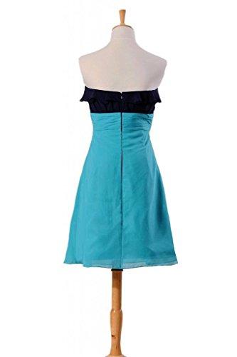 Colori Festa Nuziale bm1549 Al Combinazione Da Del Daisyformals Ginocchio Vestito Di Ciano Chiffon Navy 2 ng0w1nxqt