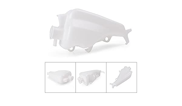 Mallofusa Motorcycle Radiator Water Coolant Reservoir Overflow Tank Replacement Compatible for Honda CBR600RR 2003 2004 2005 2006 White