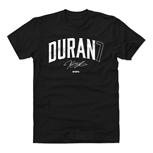 Kevin Durant T-shirt - 500 LEVEL Kevin Durant Cotton Shirt (Large, Black) - Brooklyn Basketball Men's Apparel - Kevin Durant Name Number W WHT