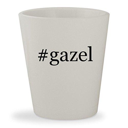 #gazel - White Hashtag Ceramic 1.5oz Shot - Gazel Glasses