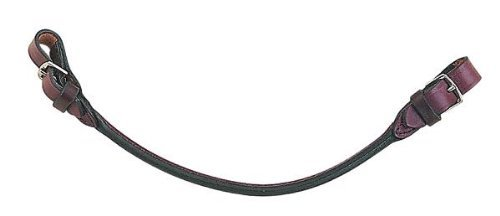 Leather Rolled Strap - Perri's Grab Strap, Black, One Size