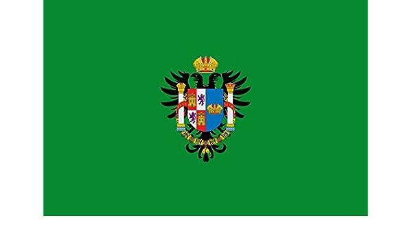 magFlags Bandera Large Provincia de Toledo | Diputación de Toledo Bandera Color Verde o Sinople con el Escudo Anterior en la Bandera | Bandera Paisaje | 1.35m² | 90x150cm: Amazon.es: Jardín