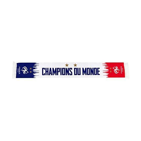Equipe de FRANCE de football Echarpe FFF - Champion du Monde 2018 - Collection Officielle Taille 140 cm