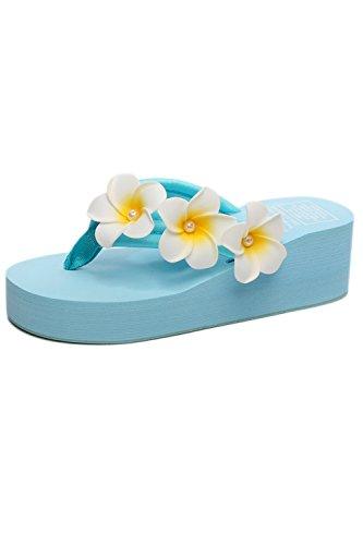 Zapatos Yacun Chanclas De Sandalias Azul Playa Verano Las Tangas wIUqf6xw