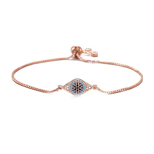 Charm Bracelets for Women Colourful Cz Stone Pave Setting Jewelry Female Accessories,Rose Gold Color