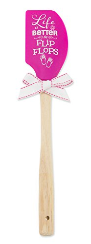 Brownlow Kitchen Silicone Spatula with Wooden Handle, Better In Flip Flops