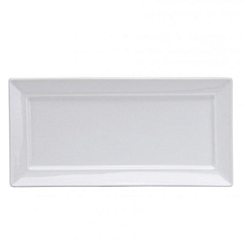 Oneida Foodservice F8010000358S Bright White Rectangle Flat 10 5/8 X 5 1/4 I (Set of 24)