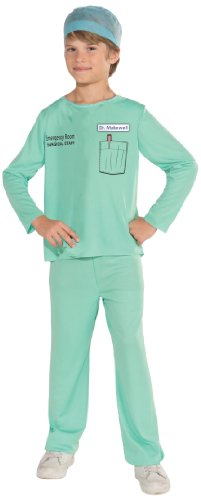 [Forum Novelties Emergency Room Surgeon Costume, Child Small] (Cool Halloween Costumes Boys)